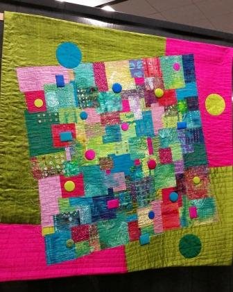 circles and square quilt